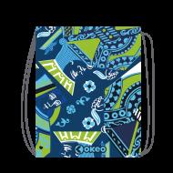 Sacco-zainetto in poliestere con stampa abbinabile ai costumi Okeo.