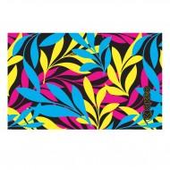 Telo in microfibra per piscina con grafica abbinabile ai costumi Okeo. Colori fluo.