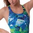 Come la tavolozza di un pittore il costume donna intero per piscina della linea Fun&Fit con sost