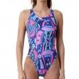 Costume intero donna per il nuoto con grafica carte da gioco.In due versioni colore: nei toni del ro