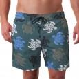 Costume da uomo modello boxer per la spiaggia con stampa tartarughe.