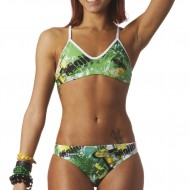 Costume due pezzi donna ideale per allenamento outdoor e per il beach volley.
