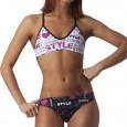 Costume due pezzi donna ideale per allenamento outdoor e per il beach volley.Foderato davanti.