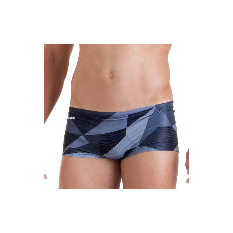 """<p class=""""p1"""">Costume da uomo per il nuoto modello shorty nei toni del grigio. <p class=""""p2"""">"""