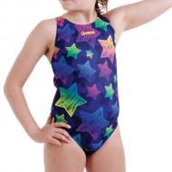 Costume intero per il nuoto da bambina con stampa