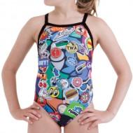 Costume intero per il nuoto da bambina con