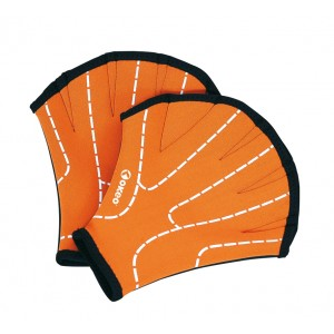 Coppia di guantini in neoprene per fitness in acqua. La parte palmare determina una resistenza appre