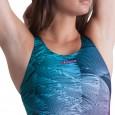 Costume intero donna per il nuoto e l'aquafitness con sostegno seno interno.