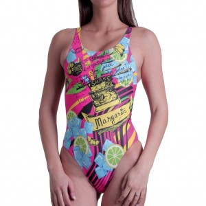 Costume intero da piscina con sgambatura alta, vestibilit