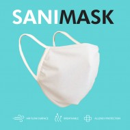 Pack da 1 mascherina SANIMASK Okeo, lavabile e sanificabile realizzata con tessuto perfettamente tra