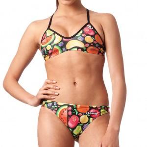 Costume due pezzi da donna, ideale per l'allenamento in piscina ma perfetto anche per la spiaggia e