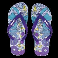 Ciabatte da piscina infradito con grafica logo Okeo.