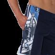 Bermuda unisex con tasche e banda laterale stampata.