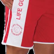 Bermuda unisex con tasche e banda laterale e stampa Lifeguard.