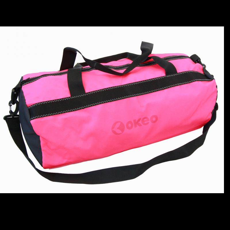 Borsone da piscina con maniglie e comoda tracolla. Colore rosa fluo.