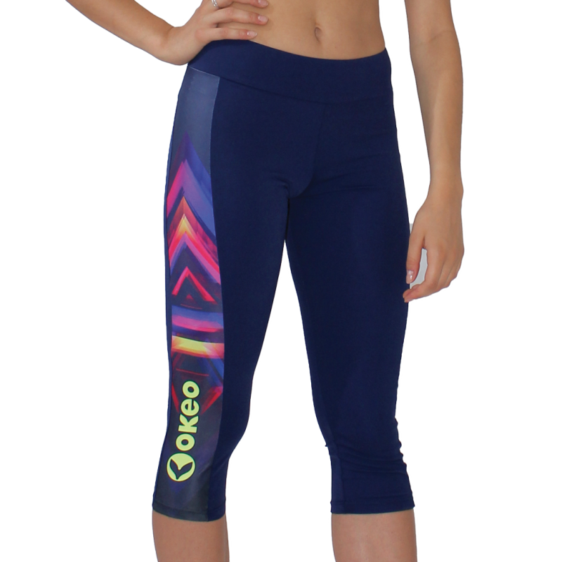 Leggings donna per il fitness con inserti stampati.