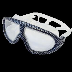 Maschera da nuoto in policarbonato.
