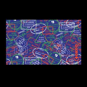 Telo in microfibra per piscina con grafica abbinabile ai costumi Okeo.