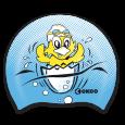 Morbida cuffia in silicone per piccoli nuotatori.
