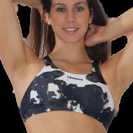Top donna per il fitness, abbinabile ai leggings.