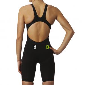 Costume da donna da gara omologato FINA con schiena scoperta. Tessuto idrofobico per la massima perf