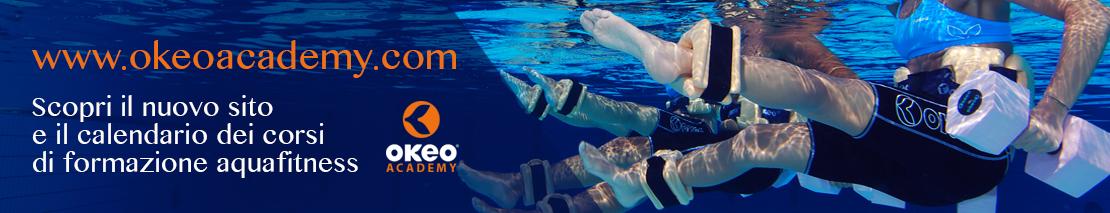 Scopri il nuovo sito e il calendario dei corsi di formazione aquafitness okeoacademy